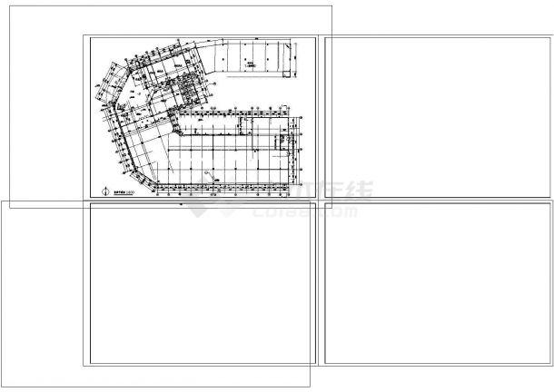 某四层酒店建筑专业cad图纸设计(含平面图,4872㎡)-图二