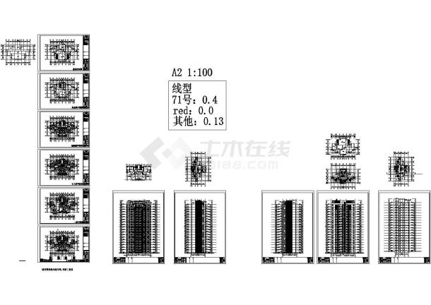 某十九层住宅楼建筑设计方案图CAD版-图一