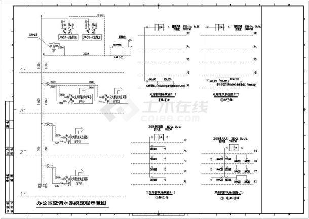 [上海]多层办公建筑空调通风及防排烟系统设计施工图(大院出品人防设计)某地-图二