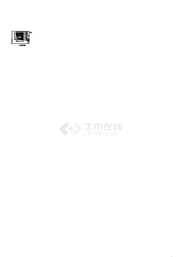 [上海]某地高层办公建筑空调通风及防排烟系统设计施工cad图-图一