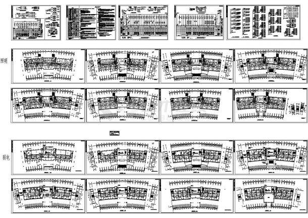 1万平方米七层办公楼电气施工cad图(含照明设计)-图一