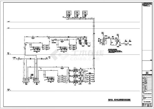 [江苏]某地高层科技办公中心空调通风及防排烟系统设计施工图(冷热源)-图一