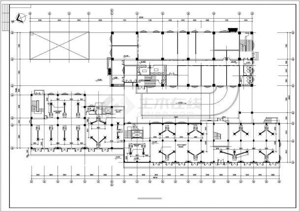 【最新】某娱乐城中央空调系统设计CAD图纸-图二