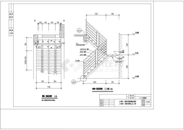某钢结构楼梯详细设计cad施工图纸-图一