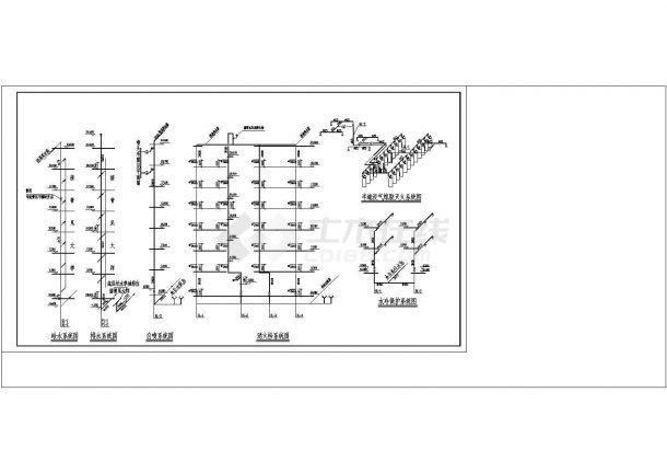 办公楼设计_某高层办公楼给排水施工设计cad施工图纸-图二