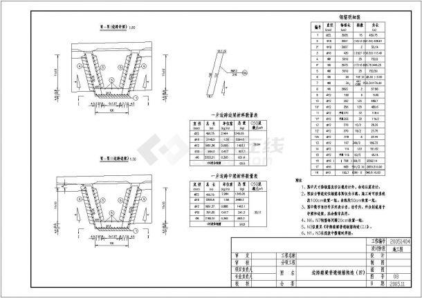 某边跨箱梁普通钢筋节点构造详图-图二