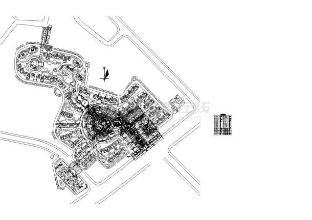 某别墅景观给排水设计平面图-图一