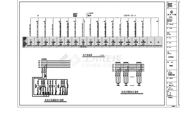 滨海某2套酒店电气设计施工cad图纸-图二