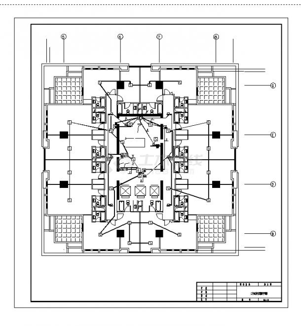 徐州某2套酒店火灾报警系统设计施工cad图纸-图一