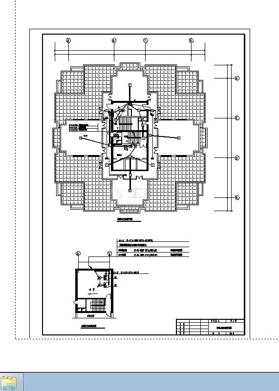 徐州某2套酒店火灾报警系统设计施工cad图纸-图二