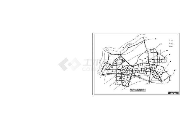 市政排水管网工程设计图cad-图一