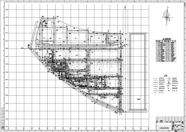 厂区给排水管道系统平面布置图cad-图一