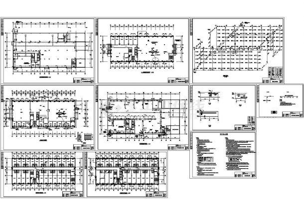 多层综合大楼散热器采暖系统设计CAD图-图一