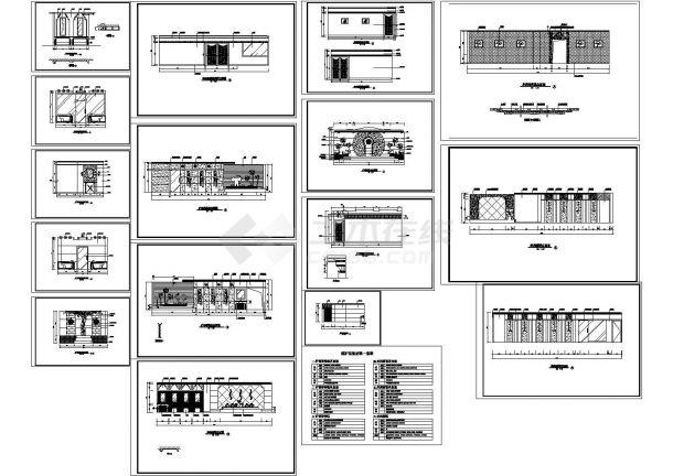 煤矿浴室装修CAD全套图纸-图一