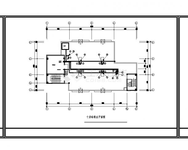 2套商务酒店电气设计施工cad图纸-图一