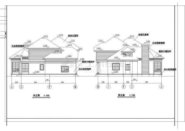 某地小型高级别墅建筑设计图纸-图一