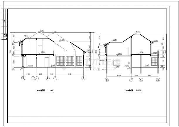 某地小型高级别墅建筑设计图纸-图二