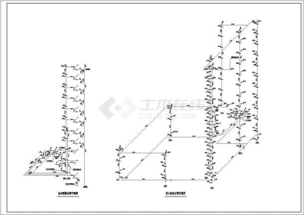 办公楼设计_某地高层办公楼给排水设计cad全套施工图( 甲级院设计)-图一