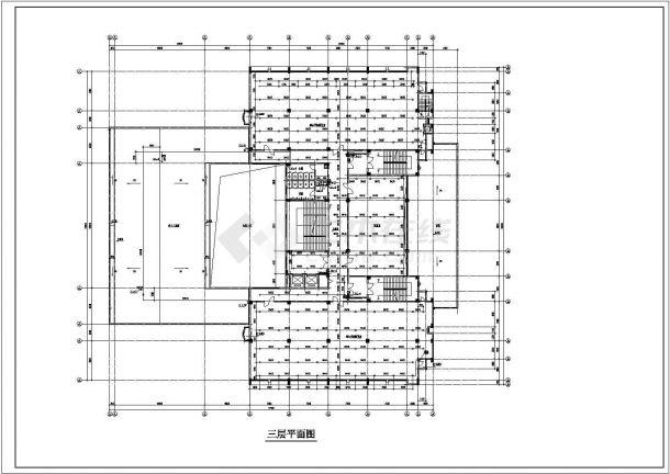 办公楼设计_某地高层办公楼给排水设计cad全套施工图( 甲级院设计)-图二