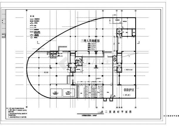 某市地下室人防建筑设计施工图-图一