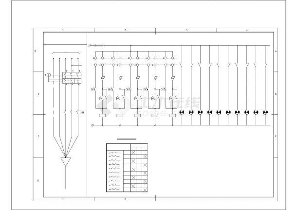 常州市某地道路照明控制设计原理cad图纸,共一份图纸-图一