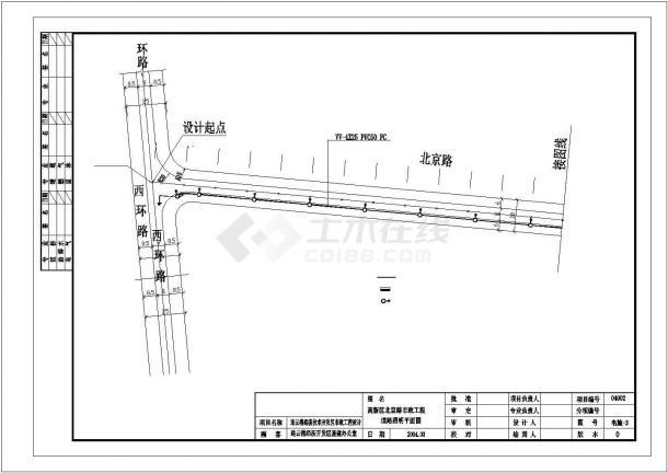 清远市某地道路照明设计规划cad图纸,共一份资料-图一
