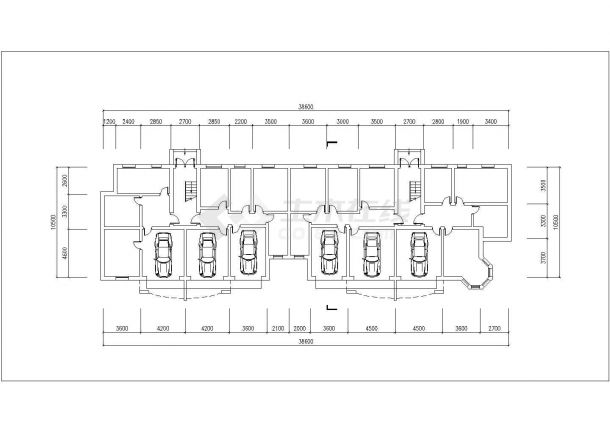 沧州市某小区2460平米6层砖混结构住宅楼平立剖面设计CAD图纸-图一