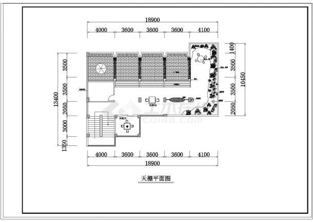 办公楼设计_某四层办公楼室内装修cad设计平面布置图-图二