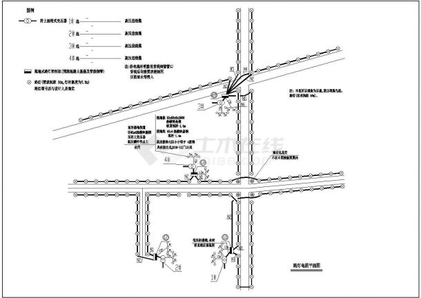 高平市某城市道路照明系统平面cad图纸,共一份资料-图一