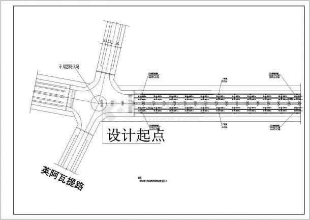 集宁市某开发区道路照明平面cad图纸,共一份图纸-图一