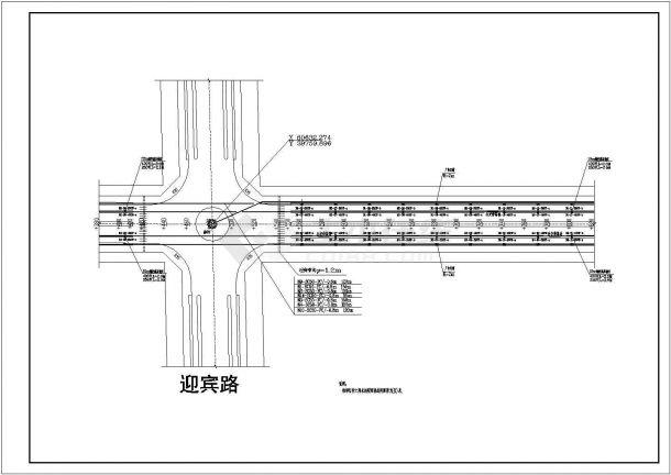集宁市某开发区道路照明平面cad图纸,共一份图纸-图二