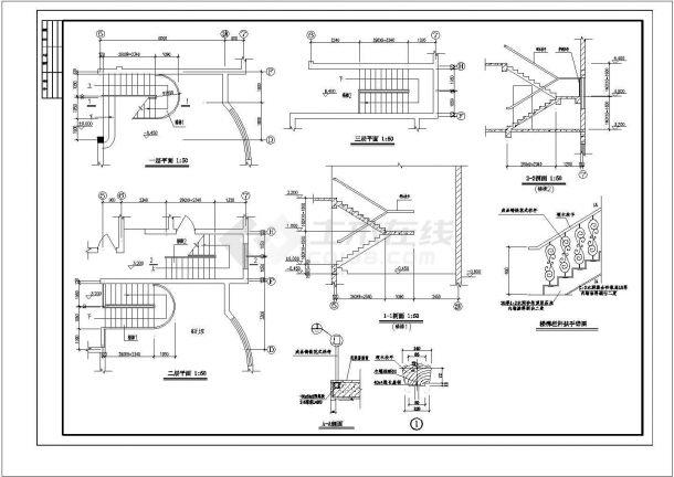 某地多幢高级别墅建筑设计图纸-图二