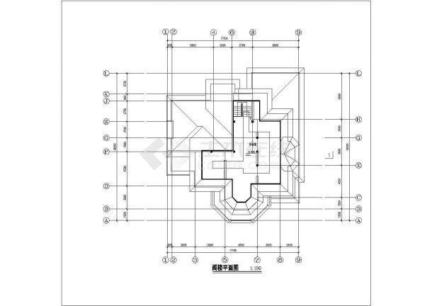 某省小型高档别墅建筑设计参考图纸-图一