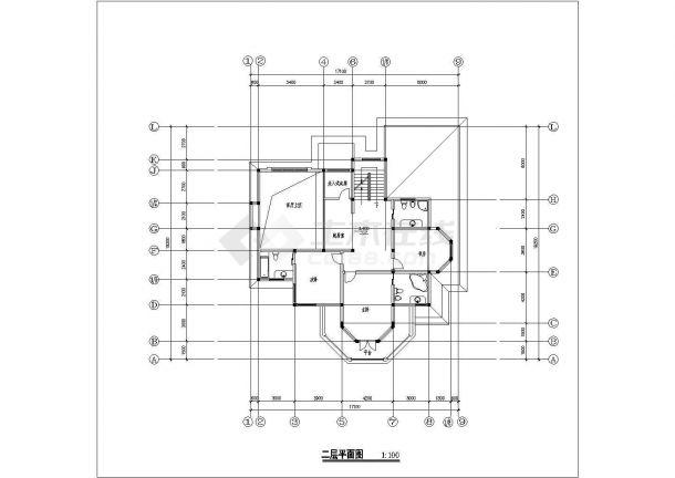 某省小型高档别墅建筑设计参考图纸-图二