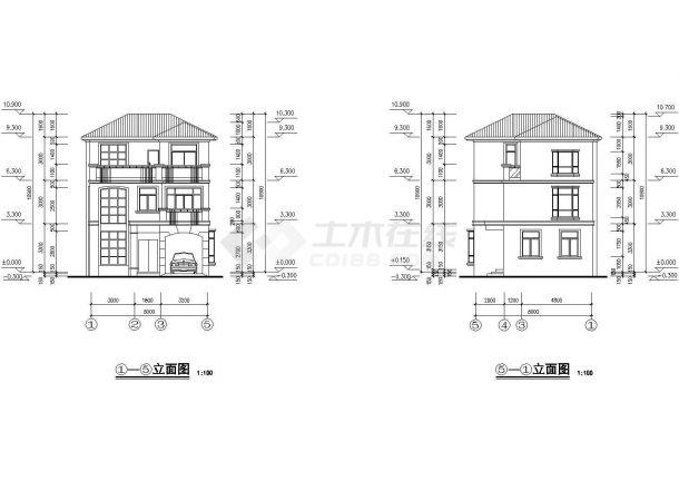 某省大型高级别墅建筑设计图纸-图一