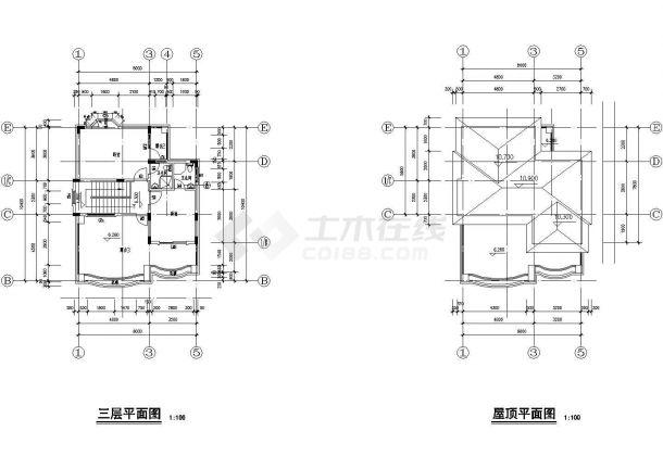 某省大型高级别墅建筑设计图纸-图二
