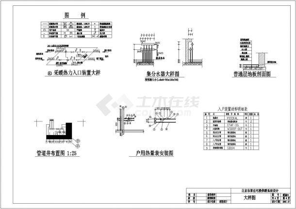 杭州市庆春路某7层住宅楼低温地板辐射采暖系统设计CAD图纸-图二