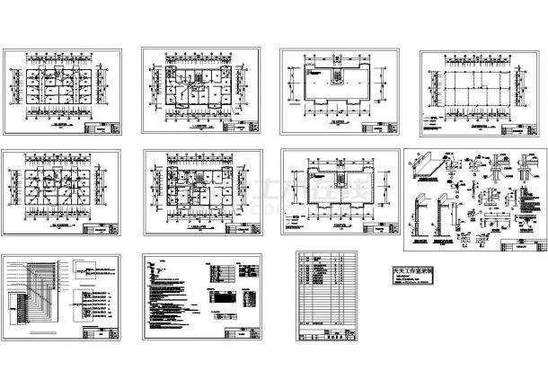 八层住宅楼电气施工cad图,共十张-图一