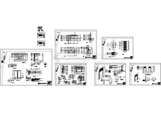 外墙干挂石材做法施 工图纸及节点大样图(某甲级院设计,标注详细)-图一