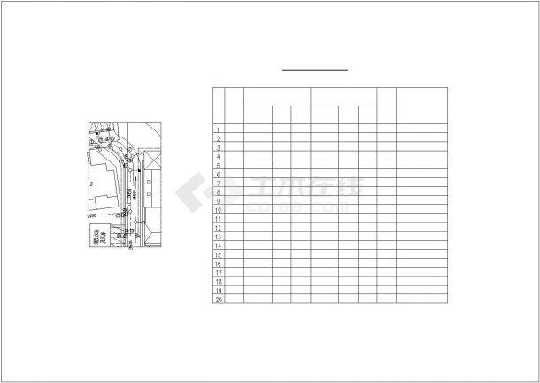 某室外综合管线图电气设计CAD平面图大样图施工图纸-图一
