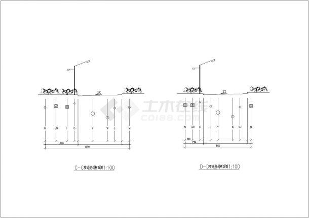 某室外综合管线图电气设计CAD平面图大样图施工图纸-图二