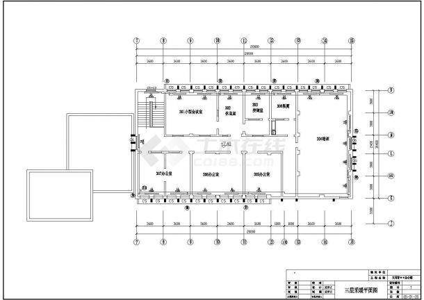 土木工程毕业设计_办公楼设计_多套办公楼采暖系统全套毕业设计资料(含计算书、开题报告、施工图)-图一