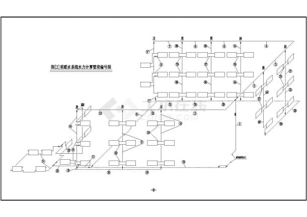 土木工程毕业设计_办公楼设计_多套办公楼采暖系统全套毕业设计资料(含计算书、开题报告、施工图)-图二