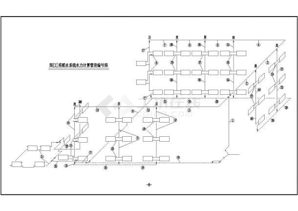 办公楼设计_苏州市工业园区某三层办公楼采暖系统设计CAD图纸-图一