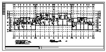 某市6层加跃层钢筋混凝土框架结构住宅楼全套结构施工cad图纸-图一