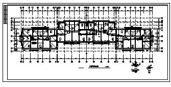 某市6层加跃层钢筋混凝土框架结构住宅楼全套结构施工cad图纸-图二