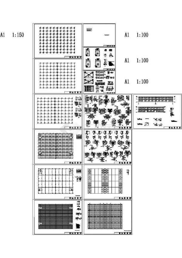 某11000平两层钢框架结构自行车产业园车间建筑结构施工设计图-图二