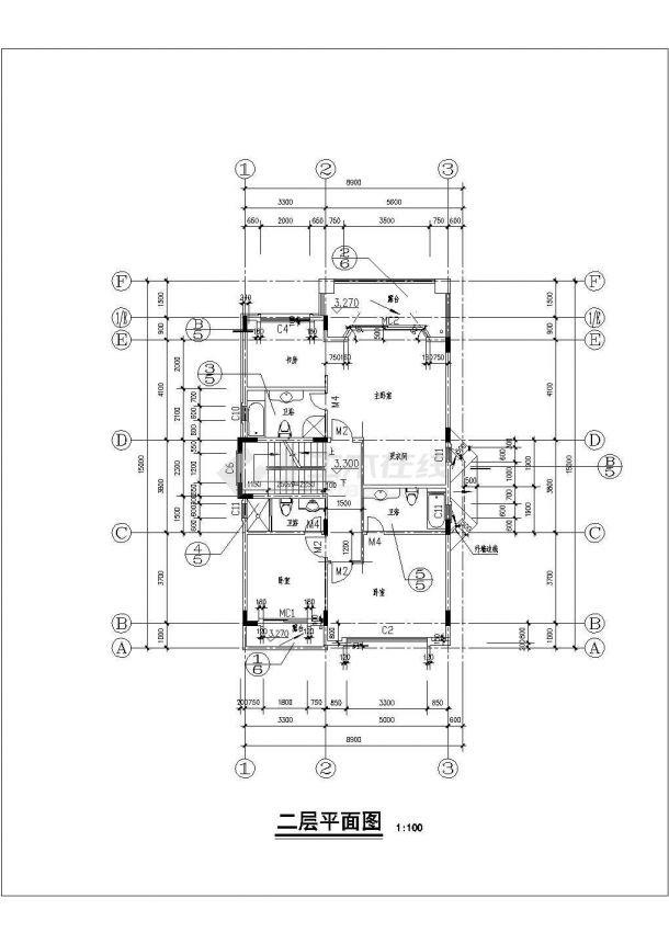 某市大型欧式别墅建筑设计参考规划图纸-图二
