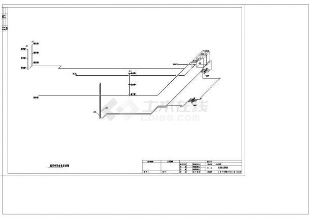 办公楼设计_某机关高层办公楼给排水详细设计cad施工图-图一