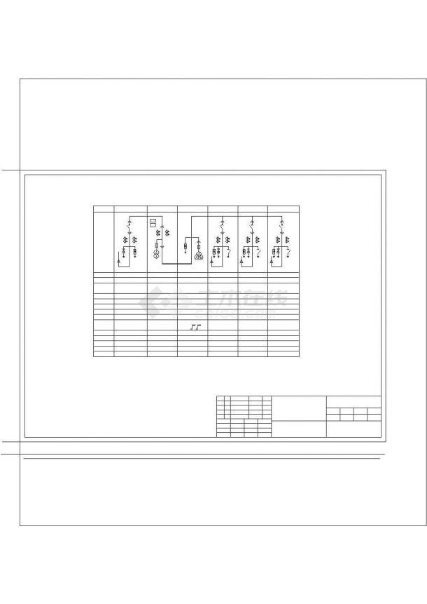 某区10KV配电系统设计规划cad图纸,共一份图纸-图二